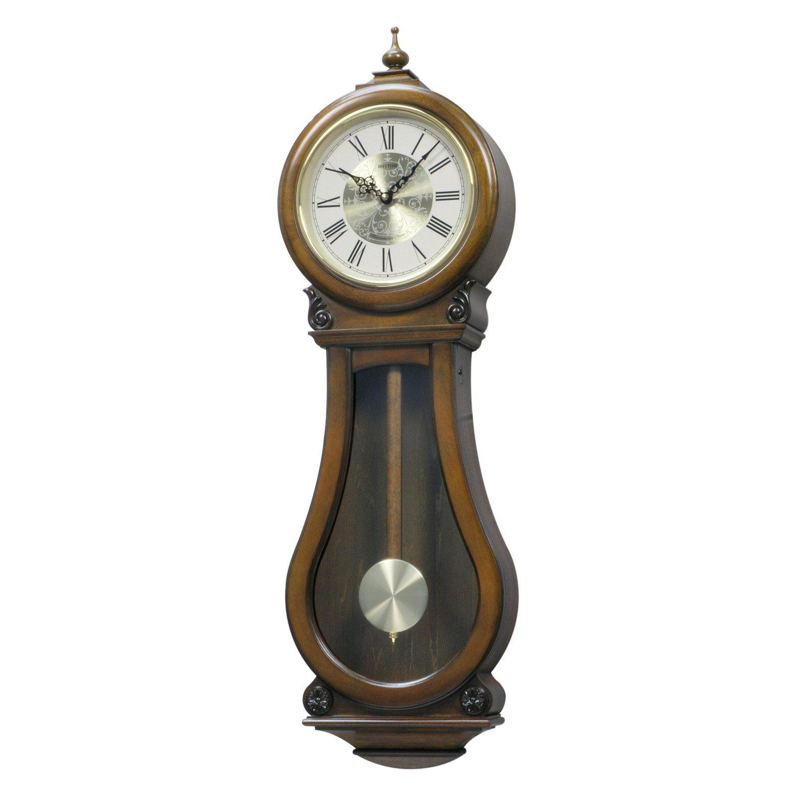 Rhythm Usa Wsm Bishop Wall Clock From Hayneedle Com Clocks