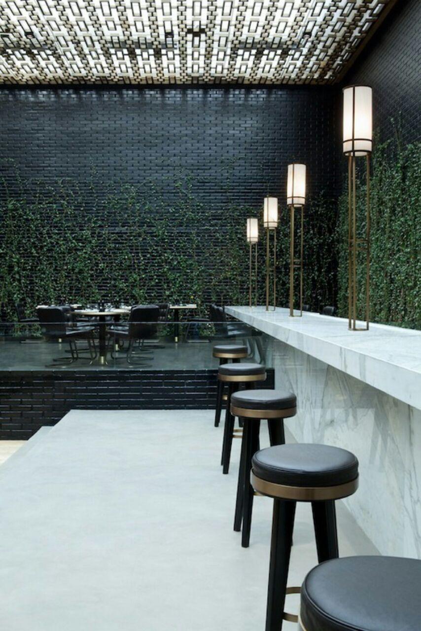 Indoor Vines At Beefbar Restaurant In Monaco Interior Pinterest