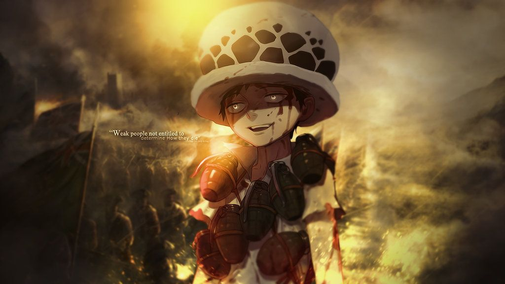 Trafalgar Law By Redeye27 On Deviantart With Images Trafalgar Law Wallpapers Background Images Anime