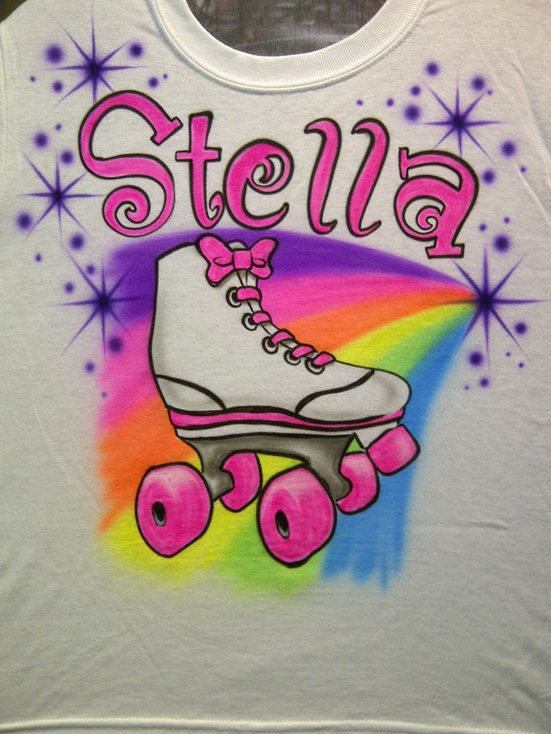 7a0452eb Airbrush T Shirt in the design pictured. List name for design in message to  seller during checkout. Standard shipping is USPS First Class, the option to  ...