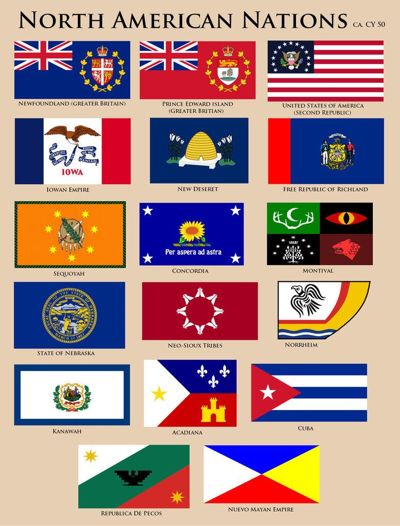 Flags Of North America Cy 50 By Ynot1989 North America Flag Flags Of The World Historical Flags