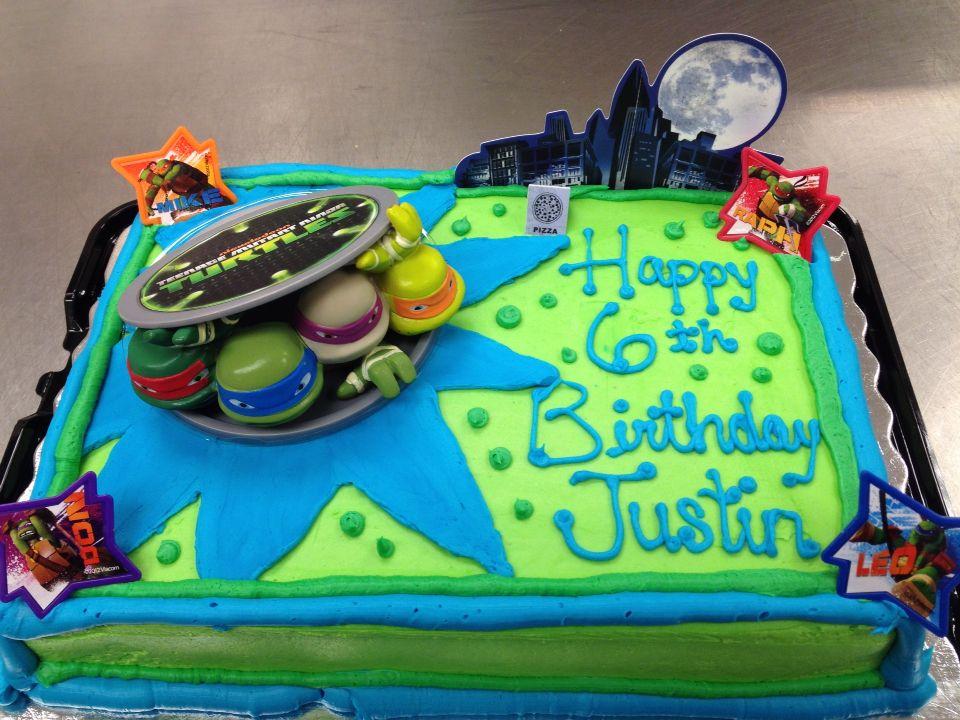 TMNT Sheet Cake | Birthday cake kids boys, Tmnt birthday ...