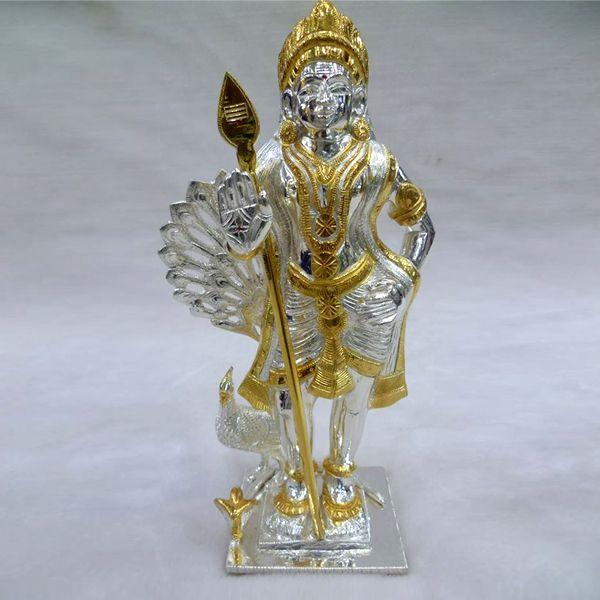 silver solid vel-murugan | Divine | Silver pooja items, Lord murugan