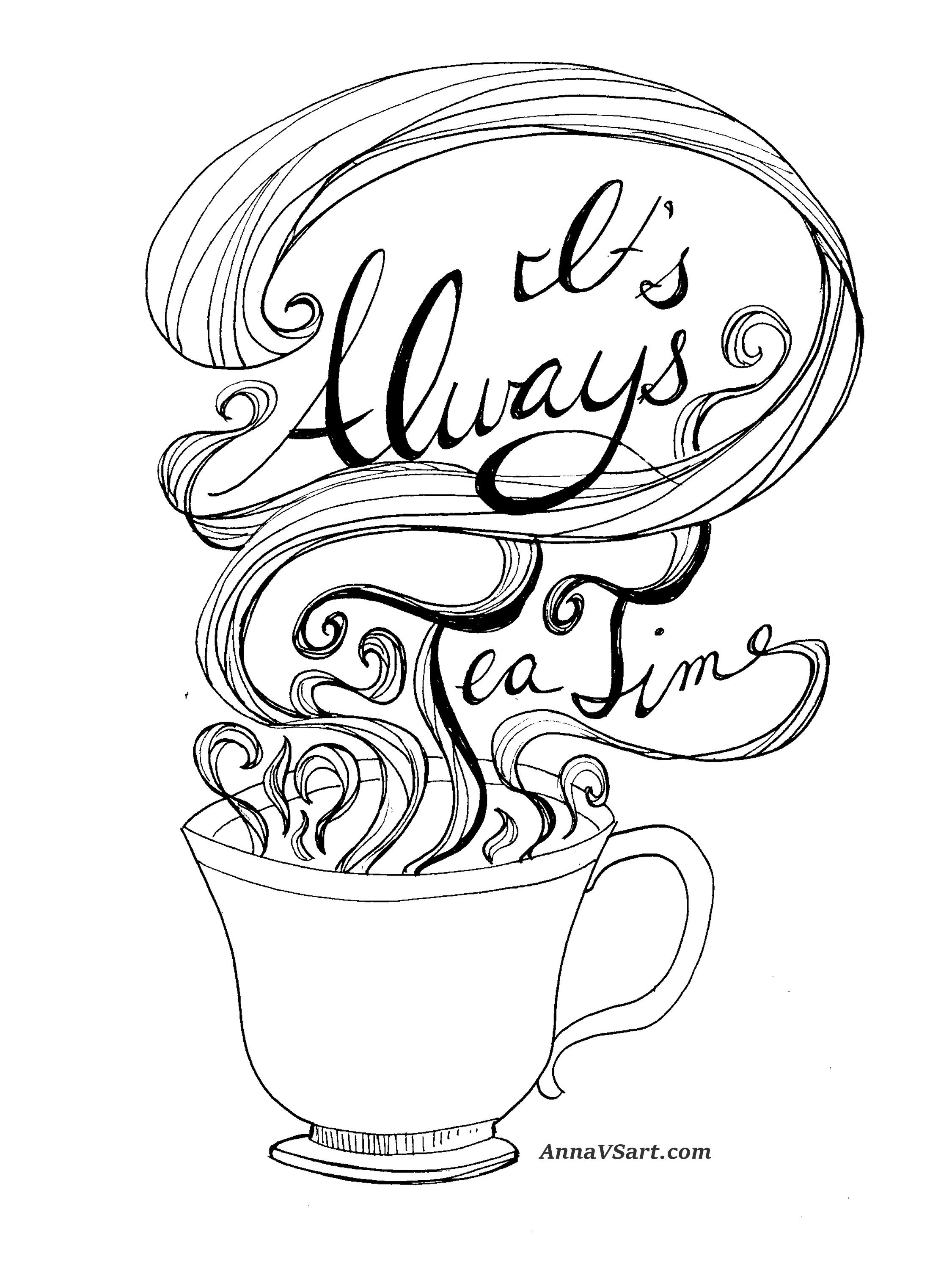 Free Alice In Wonderland Printable Tea Time Quote Alice And