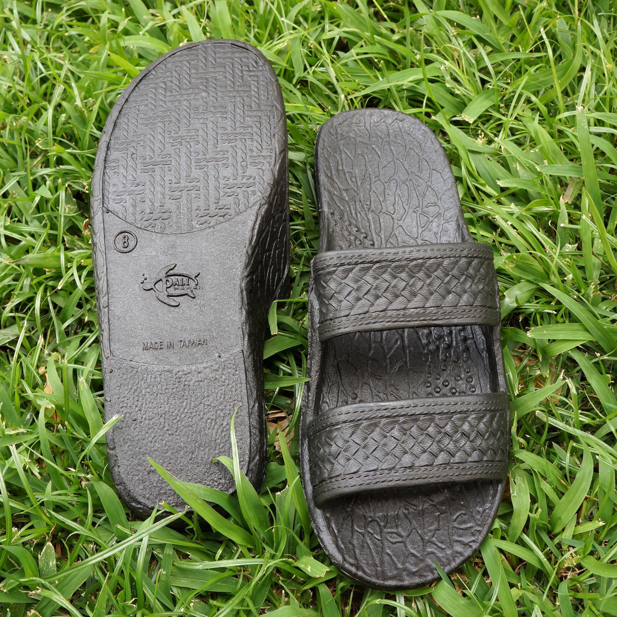 Black jesus sandals - Black Classic Jandals Pali Hawaii Sandals