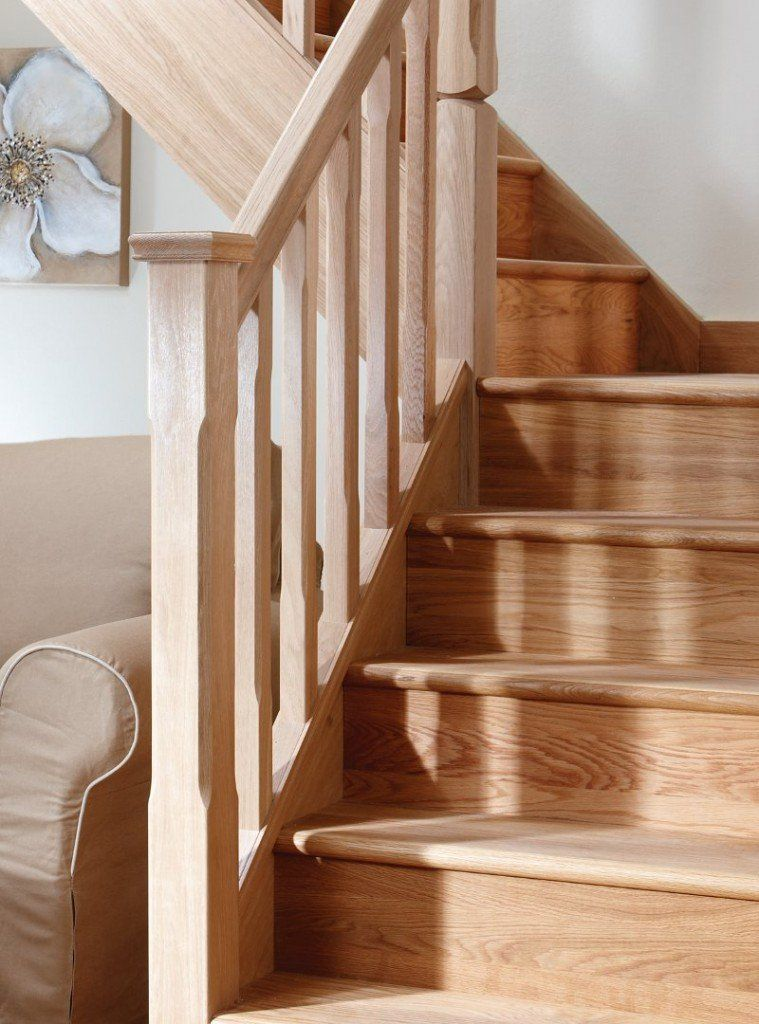 Best Closed American White Oak Staircase With Stop Chamfered 640 x 480