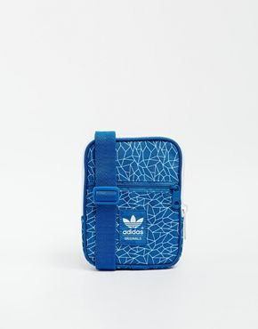 Adidas Originals Festival cross Body Bag in Blue  2fe42989c2c72