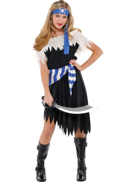 shipwrecked cutie pirate costume for teen girls halloween city - Teenage Girl Pirate Halloween Costumes