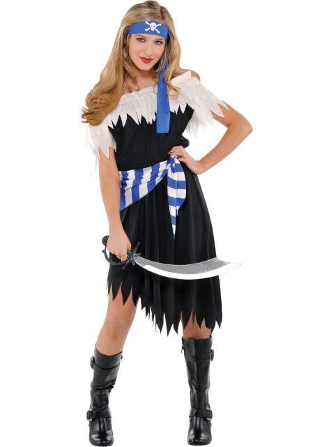 shipwrecked cutie pirate costume for teen girls halloween city - Teenage Girl Pirate Halloween Costumes