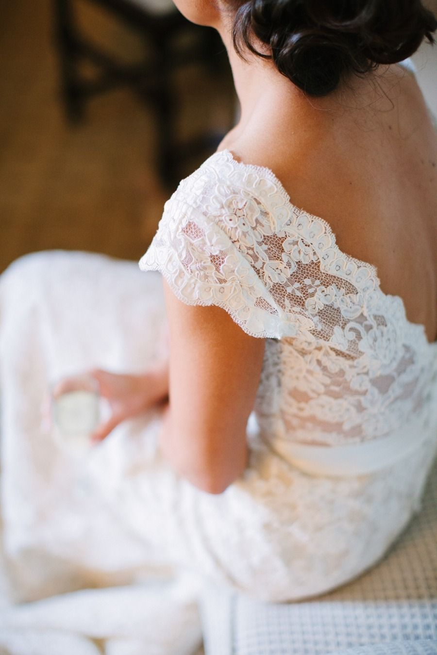 Lian Carlo lace wedding #dress | Photography: Anna Routh Photography - annarouthphoto.com  Read More: http://www.stylemepretty.com/2014/07/14/spring-barn-wedding-in-chapel-hill/