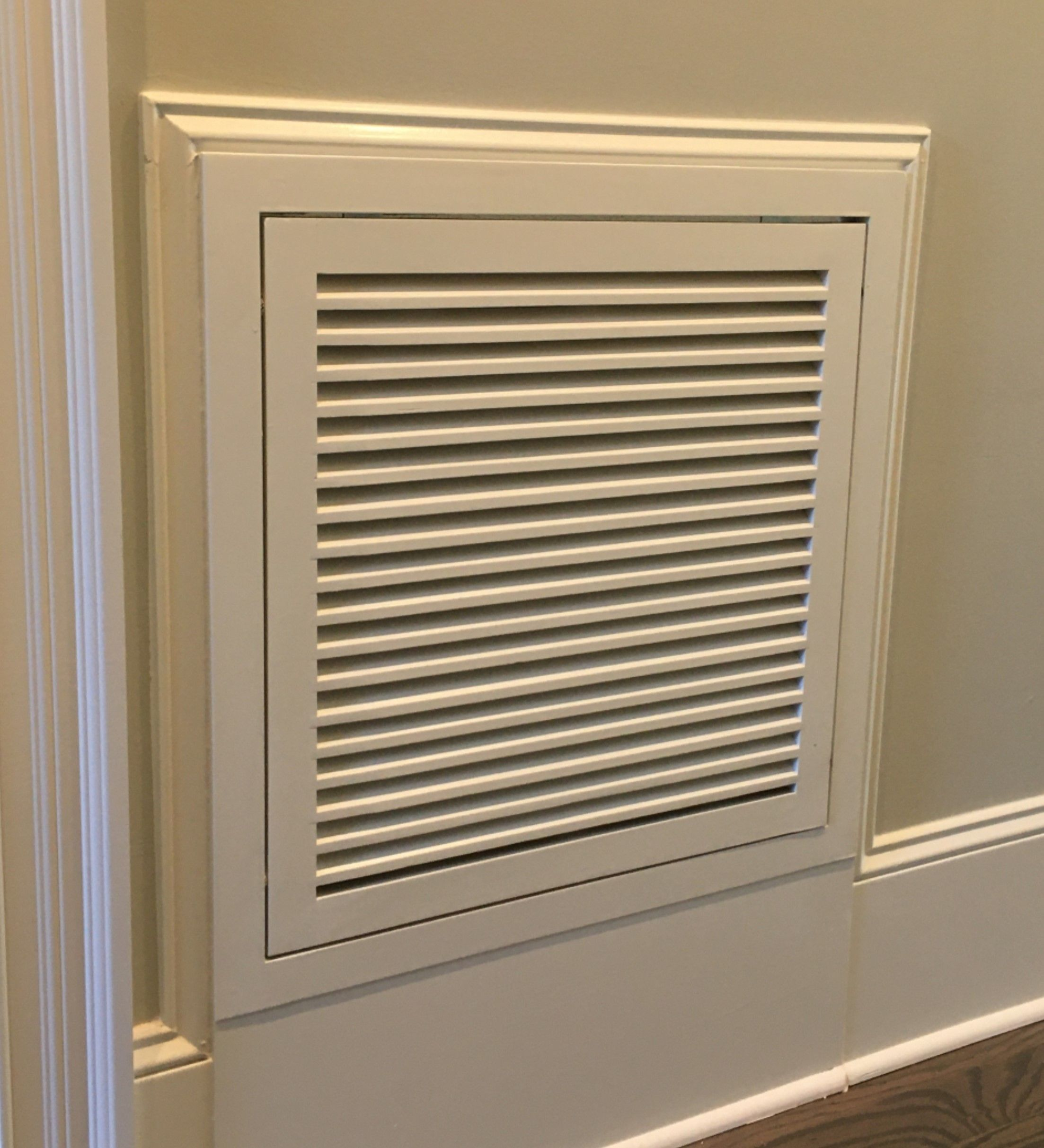 Wood Return Air Filter Grille at Baseboard in 2020 Air