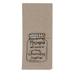Beau Kay Dee Designs Kitchen Embroidered Tea Towel