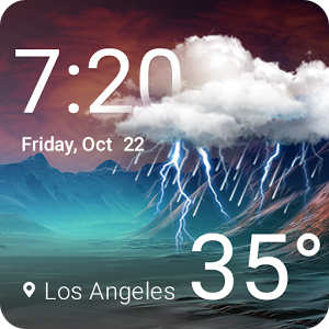 Download Weather & Clock Widget Android App Weather and