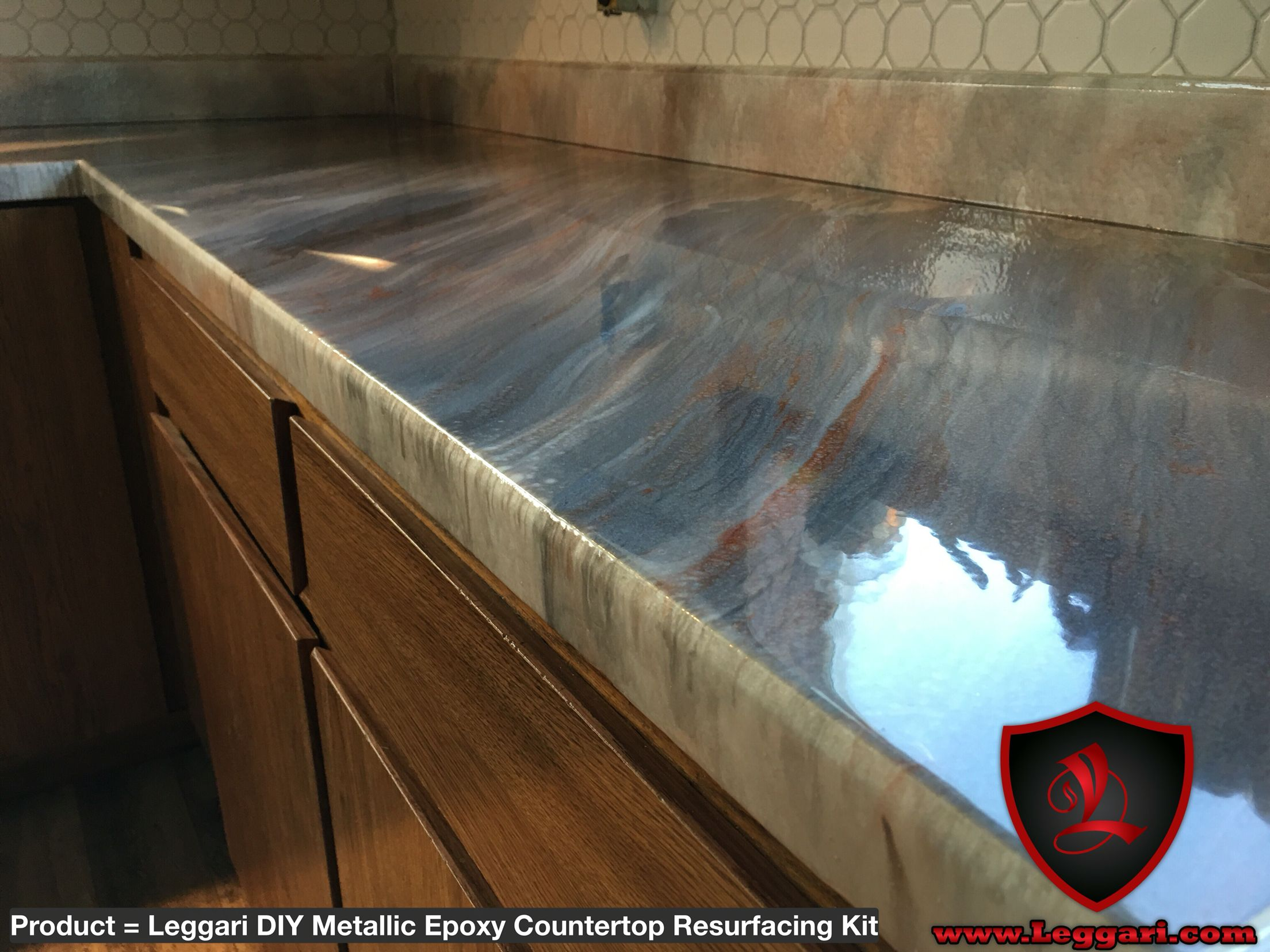 Metallicepoxy Coated Countertop Resurfacing Countertops With One Of Our Metallicepoxykit In 2019 Epoxy Countertop Epoxy Countertop Kit