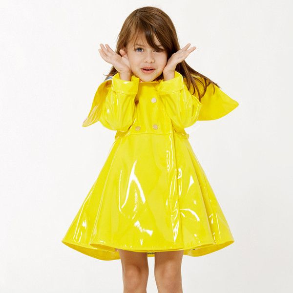 Audrey Coat by Oil& water :O #obsessed #kidsfashion #raincoat #yellow
