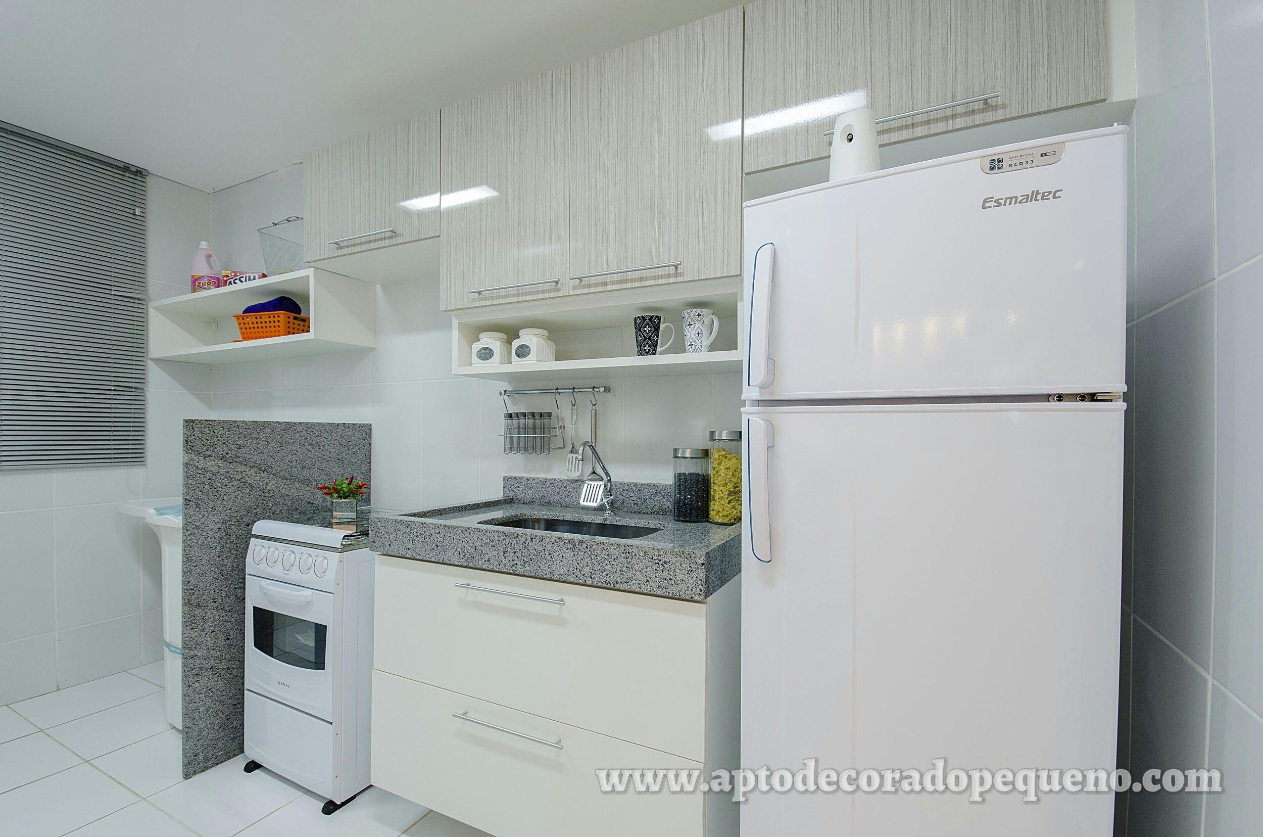 Cozinha Apartamento Pequeno Planejado Mrv Vamos Decorar Pinterest