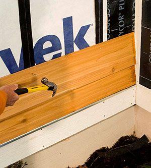 Installing Horizontal Wood Lap Siding How To Install Siding Diy Advice Wood Lap Siding Lap Siding Wood Siding