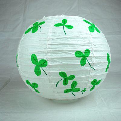 Festive st patty 39 s day shamrock paper lanterns diy w - Paper lantern paint color ...