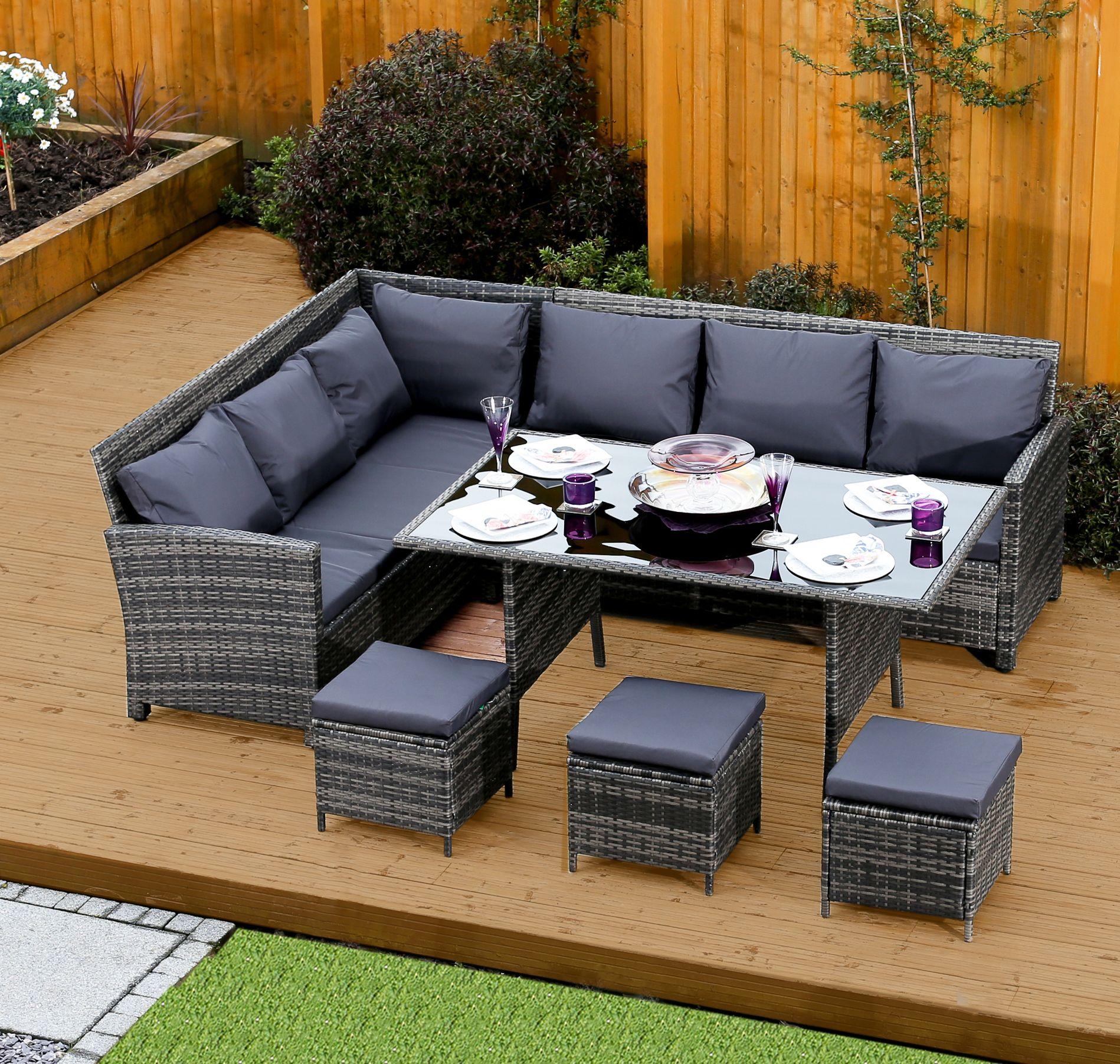 Grey Rattan Seat Dining Set Http Gardenfurniture Co Uk