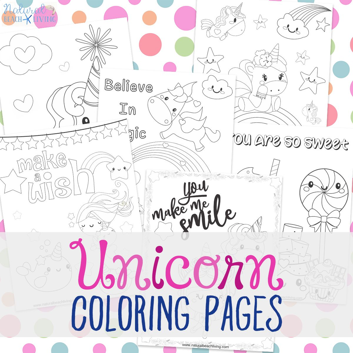 Unicorn Coloring Pages - Free Unicorn Preschool Theme Activities ...