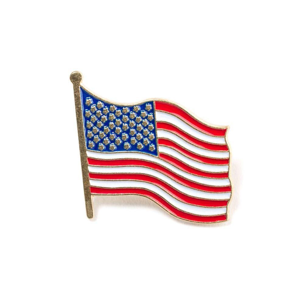 American Usa Flag Wavy Lapel Pin Barney Stinson Flag Lapel Pins Wavy Flag