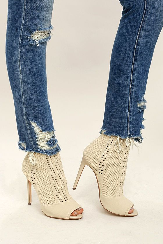 Show off your style like you mean it with the Steve Madden Candid Nude Knit  High