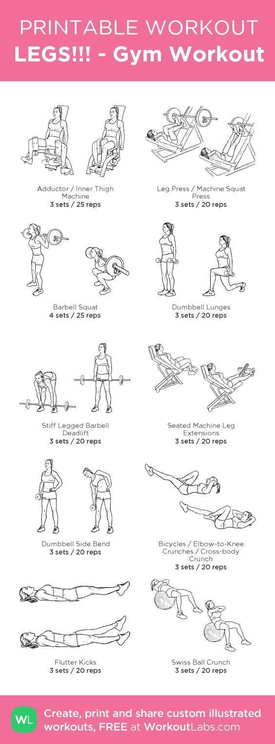 Photo of leg workout-> reach your body goals