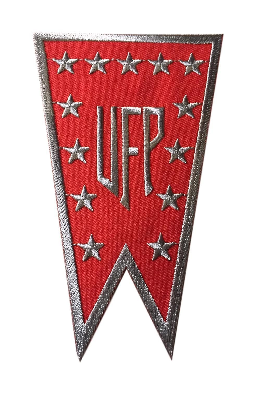 e43490783aa Star Trek United Federation of Planets Red Banner Logo Embroidered Iron On  Cosplay Patch Patch Measures Approx. 2 7 8 Inches Wide by 4 3 4 Inches Tall  Patch ...