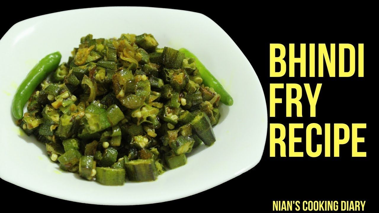 Crispy Bhindi Fry Recipe Simple Okra Bhaji Stir Fried Lady S Finger Resep Makanan Memasak