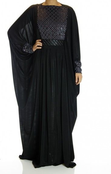 6d8e1fefb02 Lima Butterfly Jersey Abaya in 2019 | HIJABI | Abaya fashion, Abaya ...