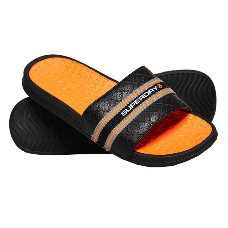 Reef NEW Men/'s One Slide Flip Flops Black BNWT