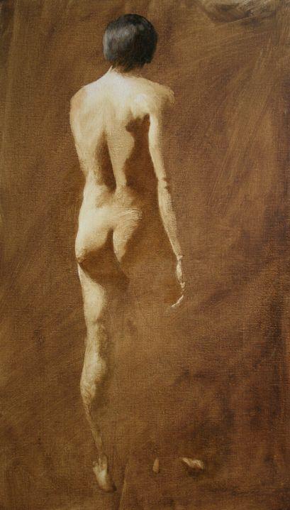 Figure Painting Progress Steps