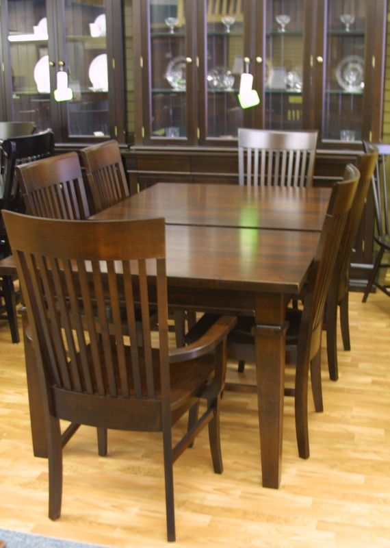 Mennonite Handcrafted Solid Maple Connie Table And Chairs Unique Handmade Dining Room Tables Inspiration