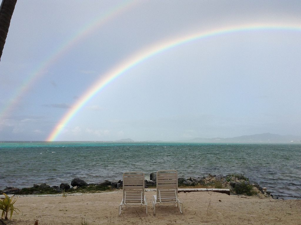 Double rainbow viewed from our gallery!!! - St. Croix condo rental