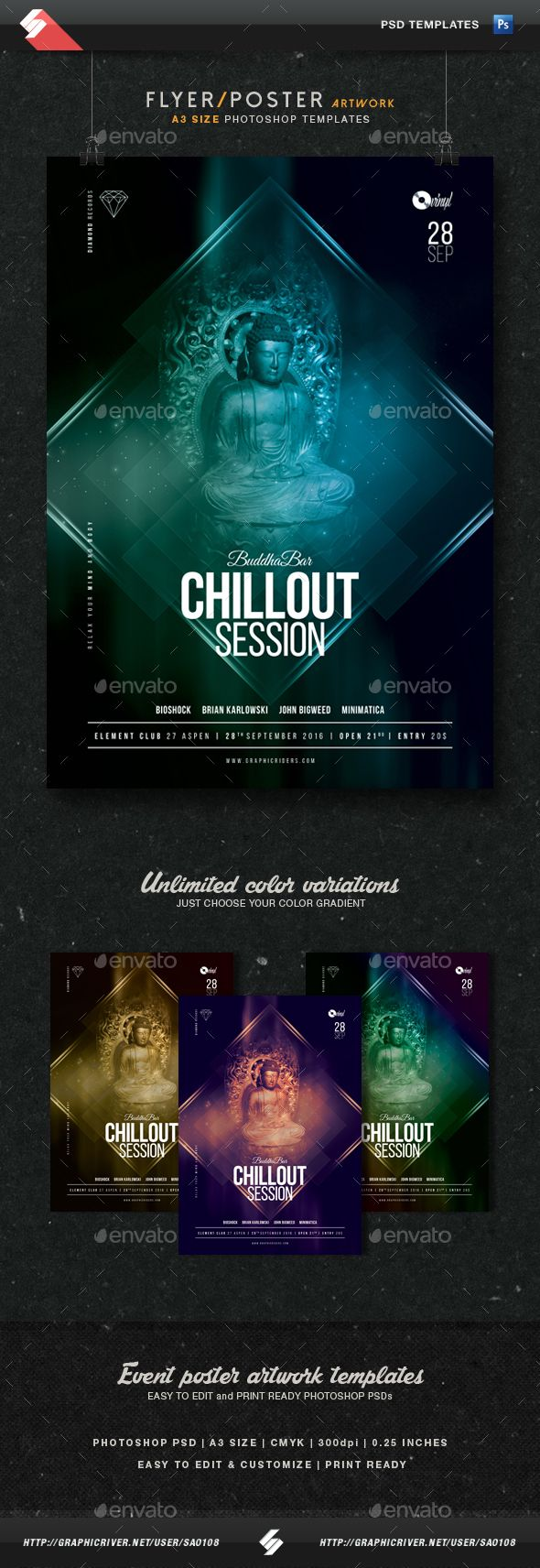 Buddha Bar Chillout Session Flyer Template A  Flyer Template