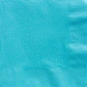 Turquoise paper 3 ply dinner napkins - For the budget wedding - self catering at reception venue - check if your venue provides all serving   and table needs, if not there are plenty of paper/plastic/ disposable options.