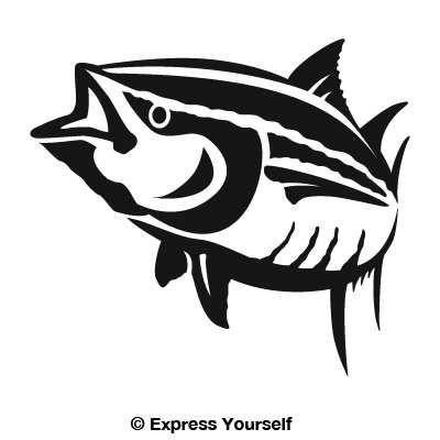 Yellowfin Tuna Decal Tuna Yellowfin Tuna Tuna Fish