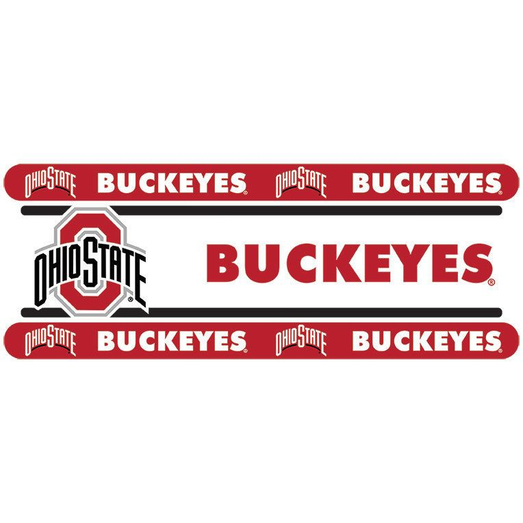 Ohio State Buckeyes NCAA Peel And Stick Wall Border Decor