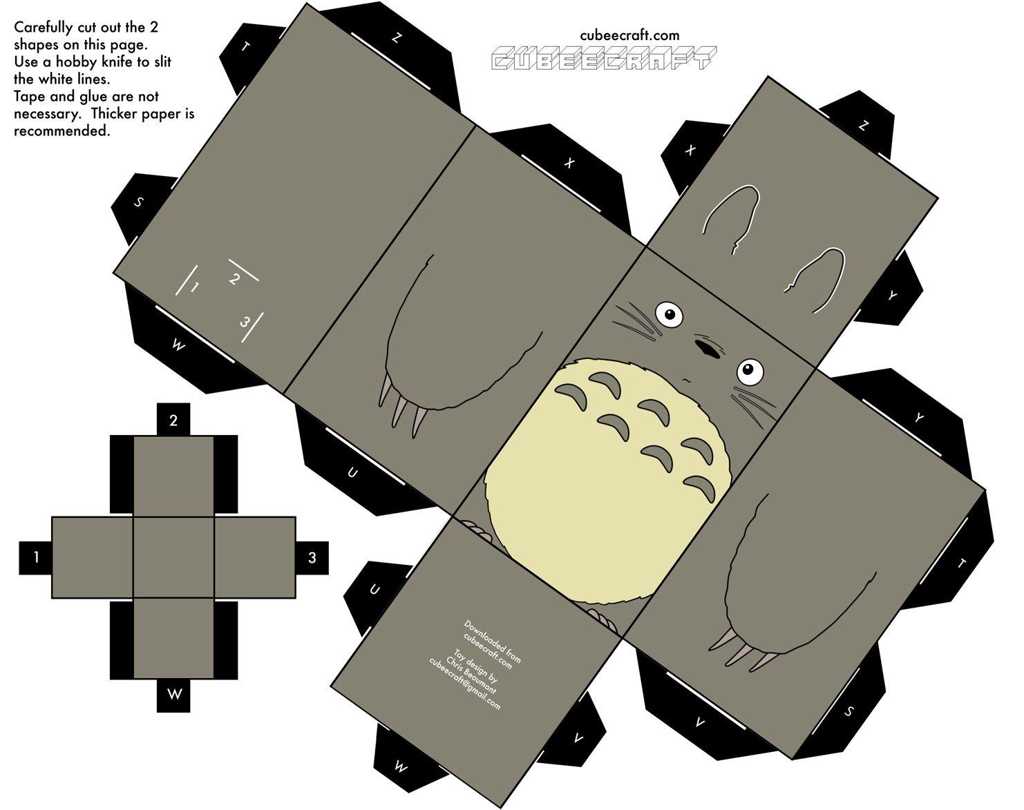 cubeecrafts de anime totoro papercraft and hayao miyazaki