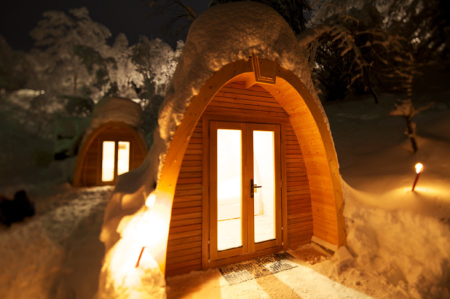 Coolest Cabins: Snow Pods A lovely setting. www.coolestcabins.com