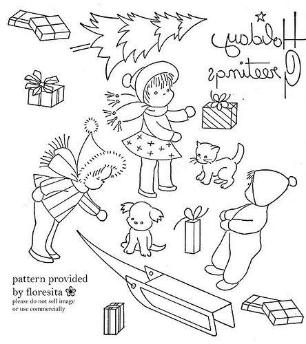 Christmas-themed stitchery!