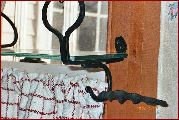Window Shelf With Curtain Rod Star Shown Shelf Bracket With