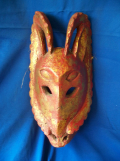 """Mexican shaman""""s mask of a coyote used to hide the soul"""