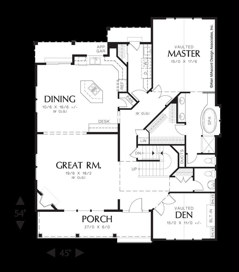 Image for GreensburgTraditional Plan with Corner