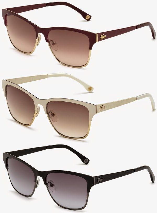 Brilhos da Moda  Óculos de Sol Lacoste Leather Edition Oculos Lacoste, Óculos  Feminino, adaa87a84e