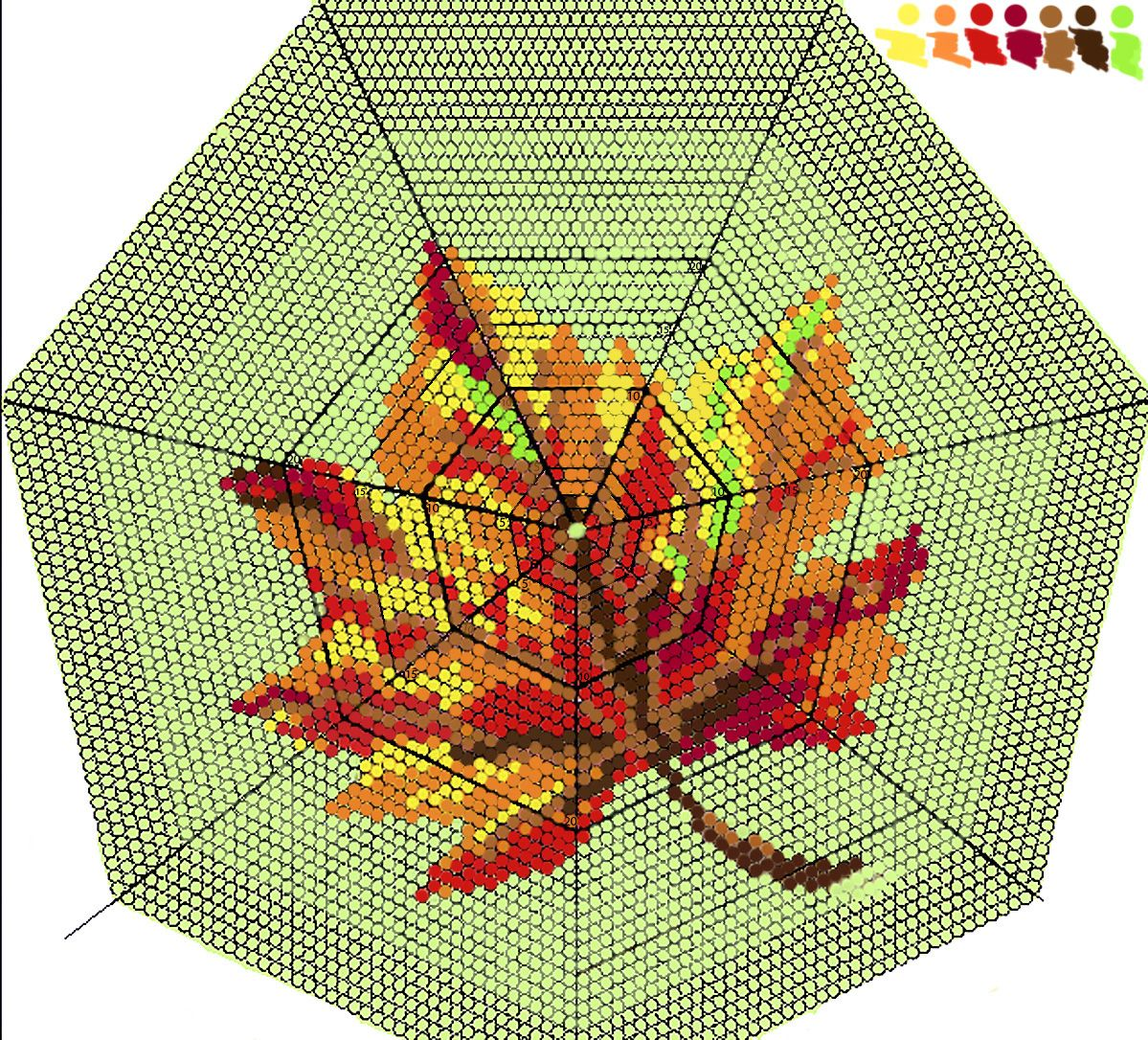 Maple leaf pattern for round bag, purse. Bead crochet | Patterns ...