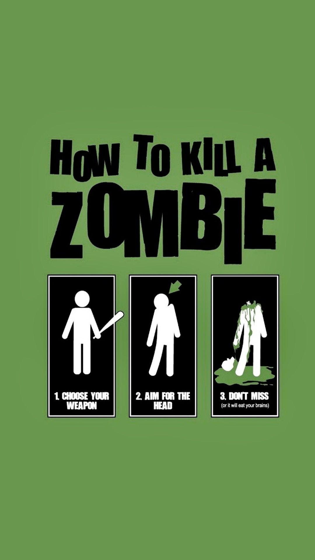 Tap image for more iPhone quotes wallpaper! kill zombie