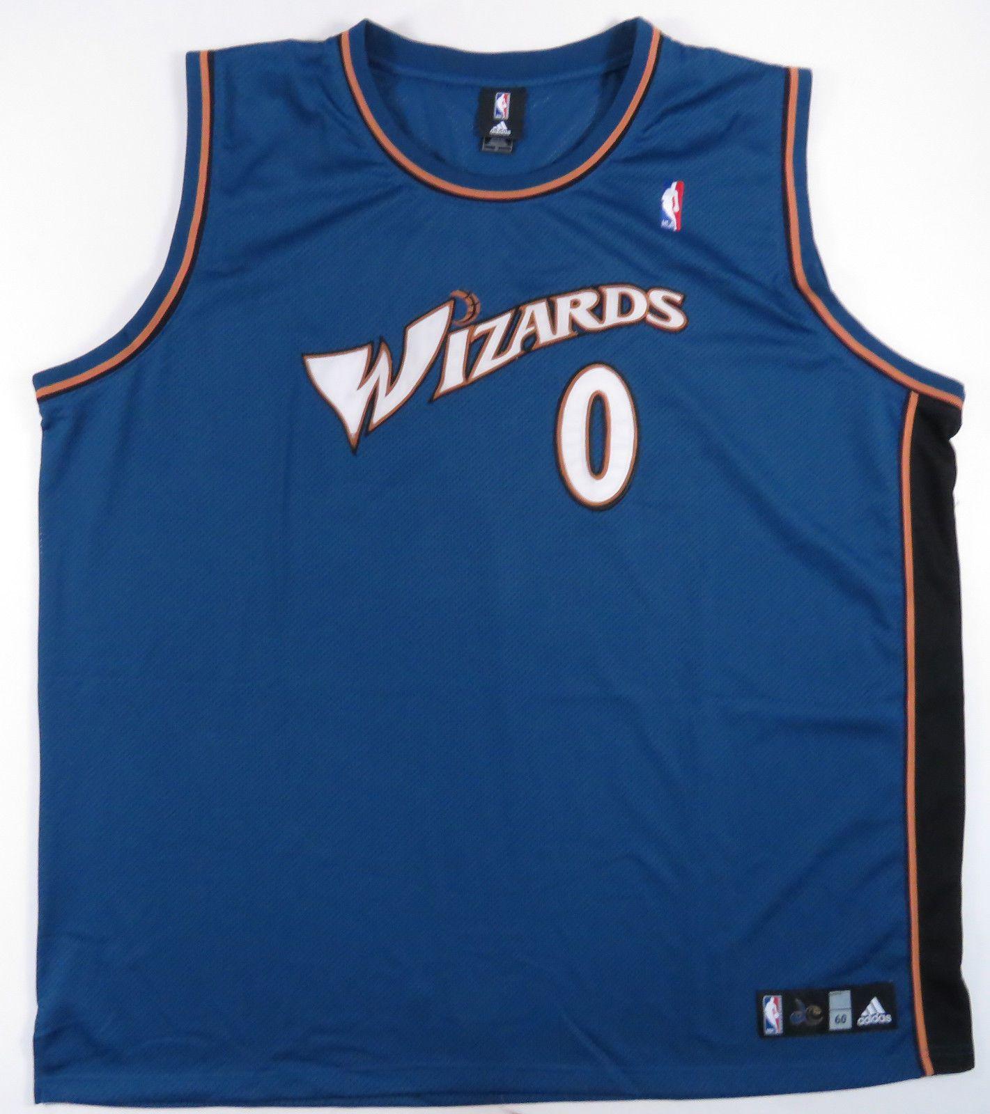 e080f684c GILBERT ARENAS WASHINGTON WIZARDS SEWN ADIDAS BASKETBALL JERSEY NBA 60  VINTAGE (eBay Link)
