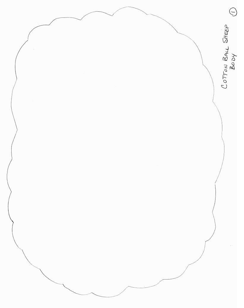Animals Crafts - Print your Sheep Craft Template 1 at AllKidsNetwork ...