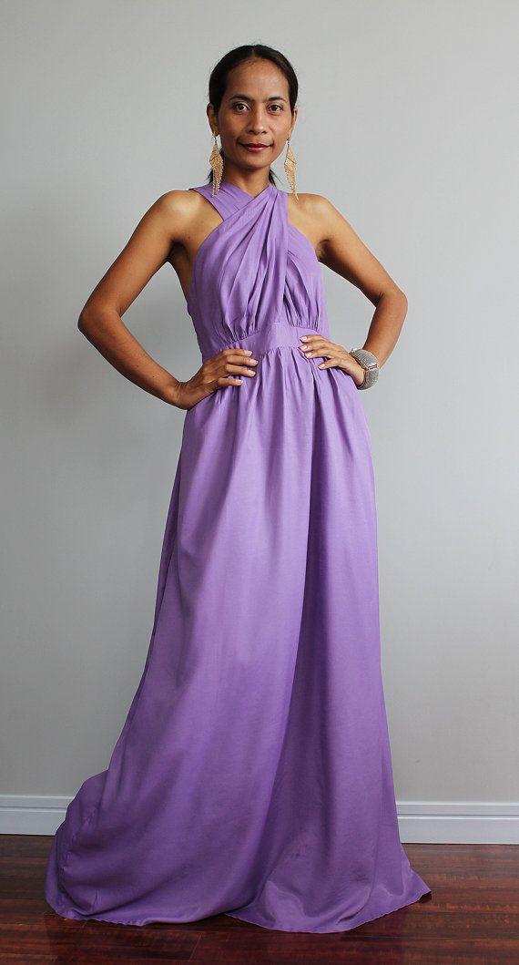 Vestido de Dama de honor Cruz vestido con falda por Nuichan ...